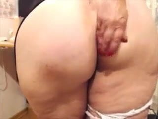 55 y.o huge butt mature taunting & draining - Part 2