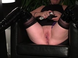 Subjugated cougar marionette wifey Putting on a flash getting her knockers and puss flagellated