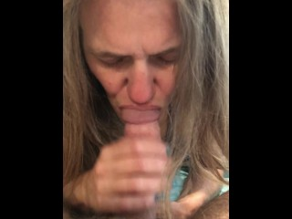 Apex O' The Morning stiffy fellating by Tori Bleu my milf wifey (short 1 min)