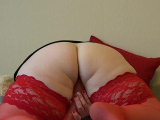 Cougar with gigantic bra-stuffers, getting off with fuck stick