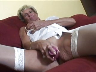 Grannie playthings with vibe