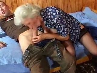 Grandma inhales wood