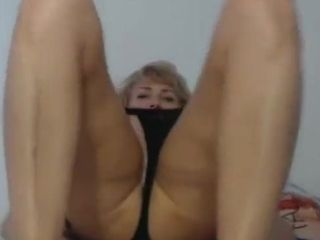 Stylish platinum-blonde mature