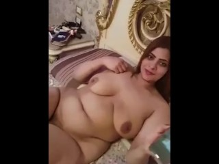 Egyptian hubby recording his wifey nude in sofa