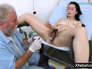 Wifey With wooly cunny obgyn examination