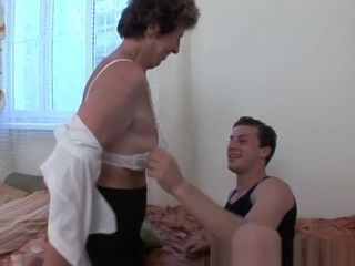 Meatpipe thirsty granny enjoys assfuck romp