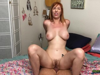 Drilling ginger-haired roomy cougar Lauren Phillips