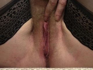 A getting off of a unshaved beaver, a mature woman. Wiggles monstrous udders
