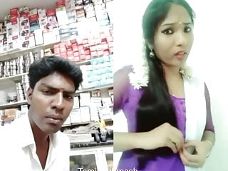 Dubmash Tamil by Tamil Aunty with demonstrating hooters