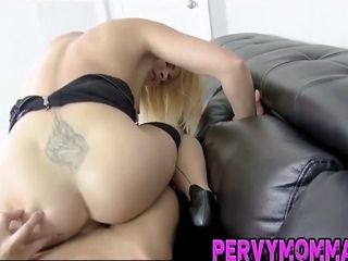 Platinum-blonde milf gets rode