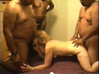 Lean pallid mother Gets porked By obese ebony guys