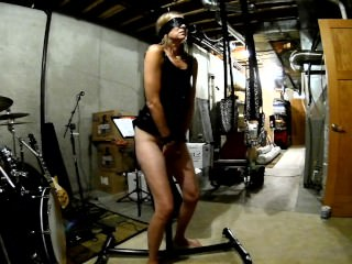 MILF spliced unconfident riding dildo to the fullest extent a finally whipped