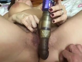 Wifey blows a load and stretches her and