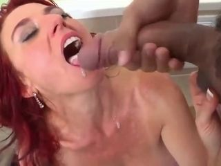 Super-naughty red-haired milf gets analed in her bathtub