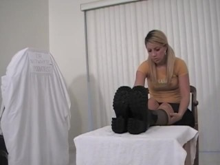 NYLON soles snuffling mighty tights SISTERS foot wank 8800
