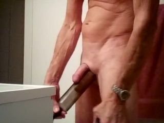 Pumping my man-meat and scrotum