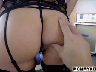 Mother gives sonny a suck off and anatomy lessonny
