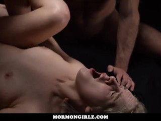 MormonGirlz-Blonde Gangbanged less pinch pennies