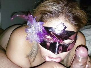 My plus-size hooded wifey guzzling milk and deep throating my shaft
