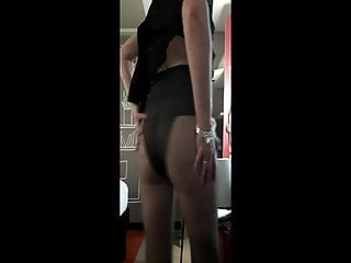 Wifey taunting in pantyhose