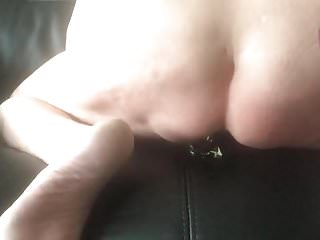 Both holes fucked waiting for i cum fast