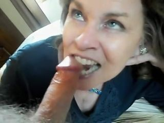 Horny Mature Gives a bj