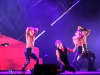 Cool chinese lad smashes chicks on stage then pulverized by masculine strippers