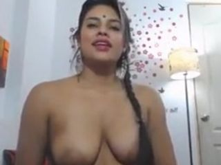 Indian wifey taunts on webcam when hubby is out