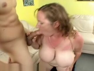 Ample funbag cougar Meets and porks youthful boy at The Beach