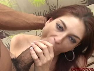 Ginger-haired mommy beaten by monstrous ebony penis of ebonyzilla
