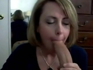 Mother enjoy to blow shaft