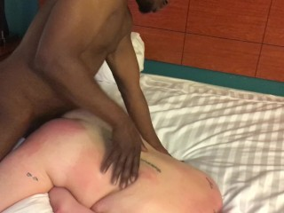Milky wifey ravaged stiff and bred by big black cock!!