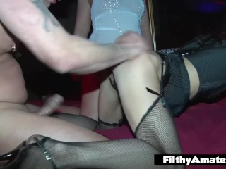 Fuckfest with three married gals who enjoy being ass-fuck