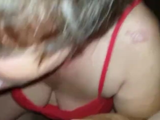 Granny wants poon packing by trunk juices after trunk blowing and urinating