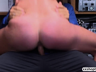 Shoplifter Sofie Marie luvs LPs bigcock inwards her puss