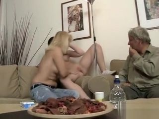 He finds his girlfriend pummeling with his parents