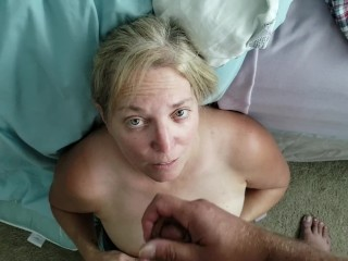 Tinder appointment takes huge facial cumshot and lets me fim it.