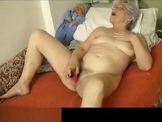 OmaPasS grannie playthings Self onanism Compilation
