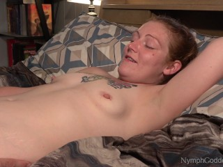Red-haired cougar Ivy having numerous climaxes while her vulva is tongued