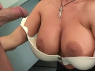 Mature platinum-blonde gets fuck-a-thon in office