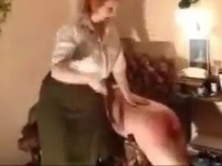 Grandmother smacking and belting