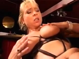 Buxom mommy pulverized in the club