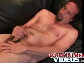 Elderly boy just likes fapping off his furry fat prick alone