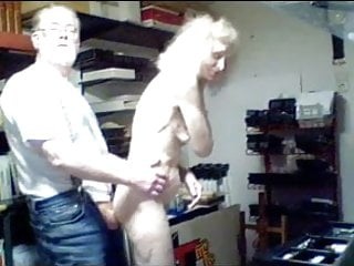Elderly grandmother josee nail on webcam