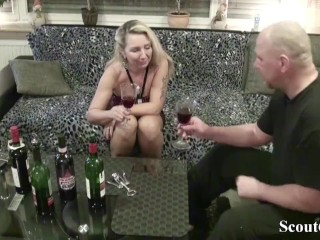 Neighbour soft-soap German MILF on every side have sexual intercourse with ceremonial dinner Tasting