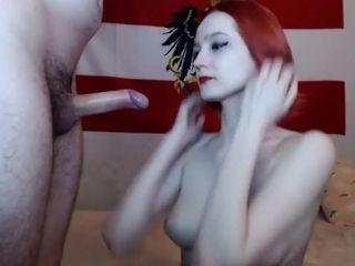 Ginger-haired mature stunner with gigantic hooters fuckin'