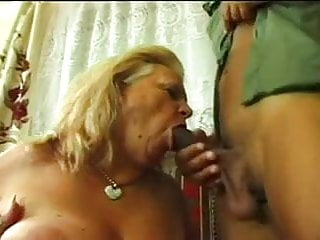 HUNGARIAN plus-size grandma WITH giant jugs nailed BY big black cock