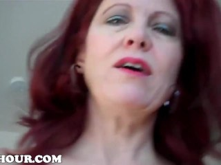 Kinky step-mother CATCHES stepson fapping OFF