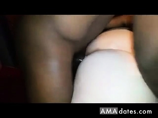 Phat ass white girl wifey gets torn up by big black cock in front of hubby