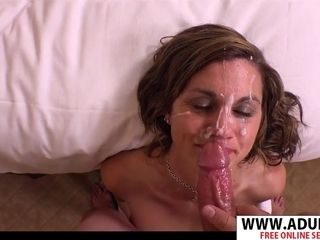 Nasty mother Gets big facial cumshot